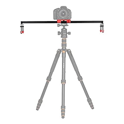 Andoer 60cm/24 inch All Metal Aluminum Alloy Video Track Slider Dolly Rail Stabilizer Max. Load 6kg for Canon Nikon Sony DSLR Cam Camera Camcoder from Andoer