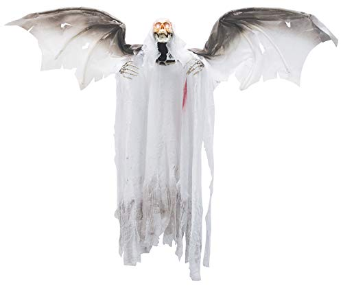 Scary Flying Bloody Reaper Animated Party Decoration Halloween Prop -