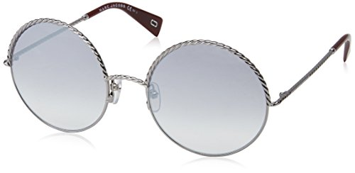 Marc Jacobs Women's Marc169s Round Sunglasses, Ruthenium Red/Gray MS Silver, 57 - Jacobs Sunglasses Red Marc