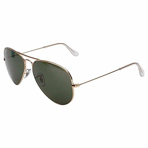 Ray-Ban 3025 Aviator Large Metal Non-Mirrored Polarized Sunglasses