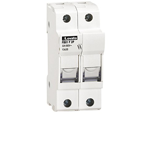 Pole Mounted Terminal (ASI AFB01F2P DIN Rail Mounted Midget Fuse Holder, 2 Pole, 10 x 38 mm, 13/32