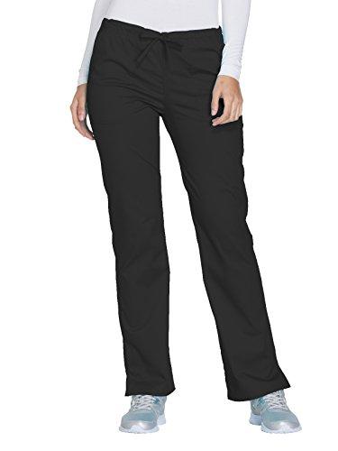 Cherokee Core Stretch by Workwear Women's Drawstring Scrub Pant X-Large Petite Black