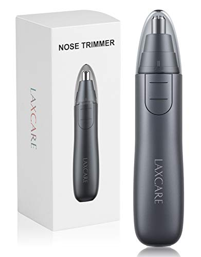 Nose Hair Trimmer, Laxcare Ears and Nose Trimmer Shaver Clipper Removal Dual Edge Blades for Men Women