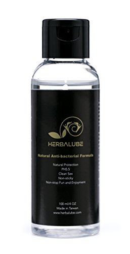 Herbalube Natural Anti-bacterial Sex Lube for Lesbian and Women Water Based Lubricant - 4 oz Natural Protection PH5.5 Clean Sex Non-sticky Non-stop Fun and Enjoyment