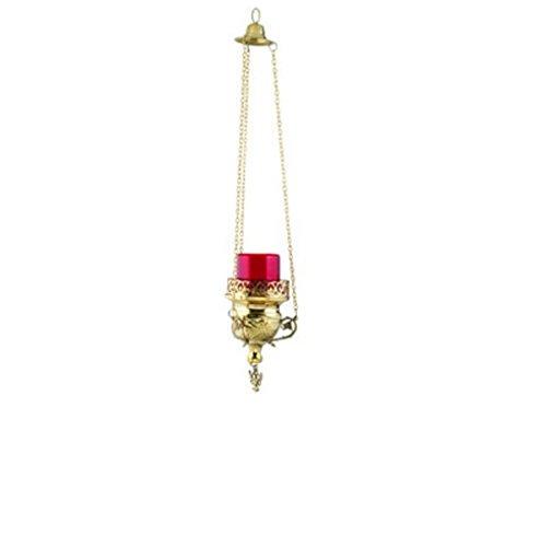 Hanging Brass Christian Orthodox Vigil Lamp (9770 B)