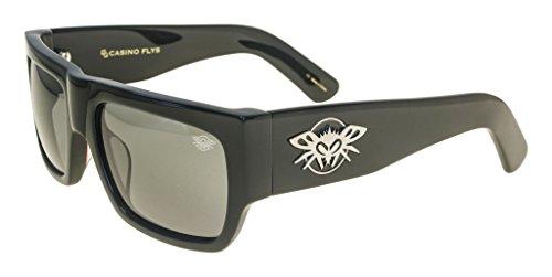 Black Flys Casino Fly Sunglasses (shiny black/polarized smoke lens, one color)]()