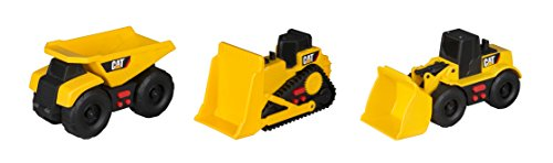 Toy State Caterpillar Cat Mini Mover Light and Sound Dump Truck with Bulldozer & Wheel Loader Vehicles (3 ()
