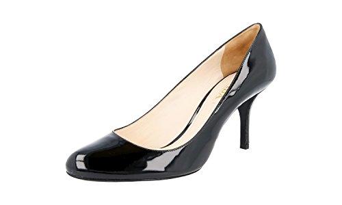 (Prada Women's 1I289D O6E F0002 Black Leather Pumps/Heels EU 39.5 / US 9.5)