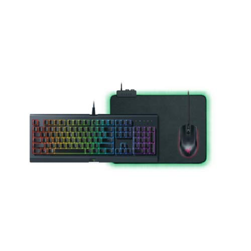 Razer Holiday Bundle 2018 Cynosa Chroma Gaming Keyboard, Abyssus Gaming Mouse, Goliathus Chroma Mousepad (Best Mousepad For Gaming 2019)