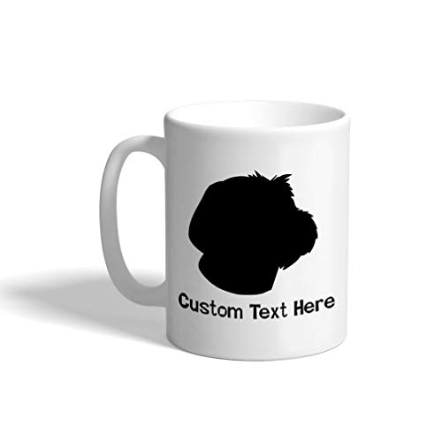 Custom Funny Coffee Mug Coffee Cup Wirehaired Pointing Griffon Silhouette White Ceramic Tea Cup 11 OZ Personalized Text Here
