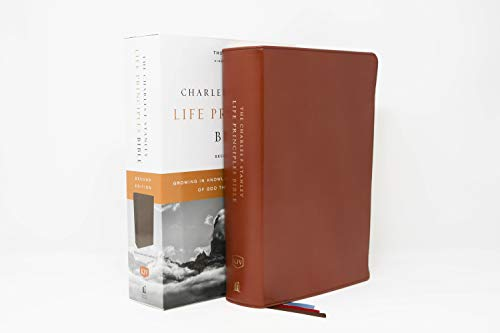 KJV, Charles F. Stanley Life Principles Bible, 2nd Edition, Genuine Leather, Brown, Comfort Print: Growing in Knowledge and Understanding of God Through His Word (7 Gifts Of The Holy Spirit Understanding)