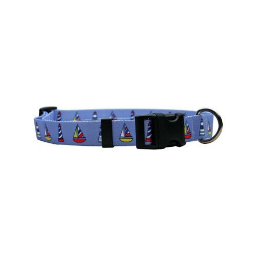 Yellow Dog Design Pet Collar, Standard Easy-Snap Collar, At The Beach Patterns, All-Sizes