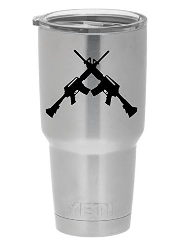 Crossed AR15 YETI PREMIUM Decal 3