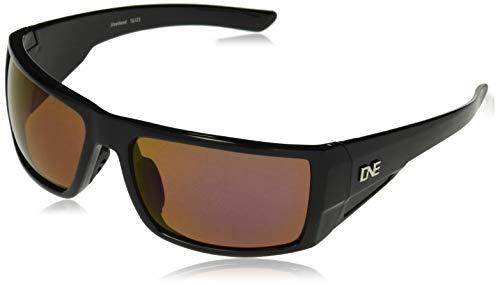 Optic Nerve, Steelhead, Unisex Sports Sunglasses - Shiny Black Frame, Polarized Brown Blue Zaio Lens