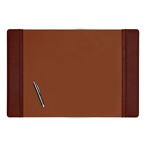 Dacasso Mocha Leather Desk Pad with Side Rails, 25.5-Inch by 17.25-Inch by Dacasso