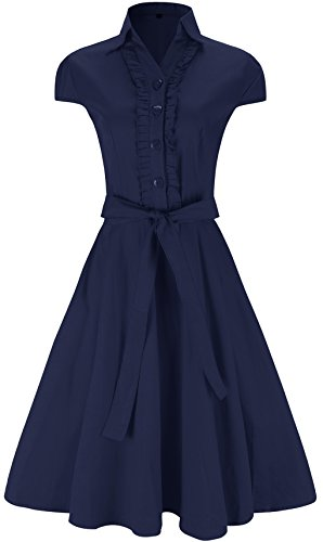 Mounblun Womens Vintage Dresses Colored