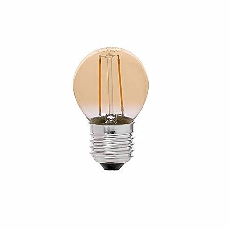 Bombilla LED Filamento E27 G45 4W Ámbar, 2300 Color Transparente Iluminacion de Techo Interior 340