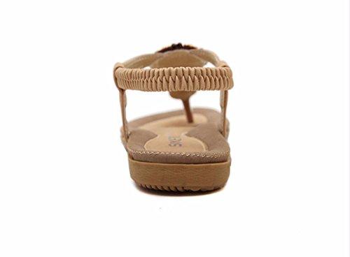 GTVERNH Nazionale Donna scarpe color Soft Summer Scarpe da Fondo Sandali Infradito estive Tep Eolica Scarpe donna Piatto Apricot Da Bottom Stecca nCWCwUBv