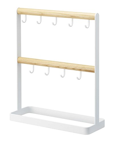 YAMAZAKI Tosca House Key Rack- Modern Wood Entryway Organizer