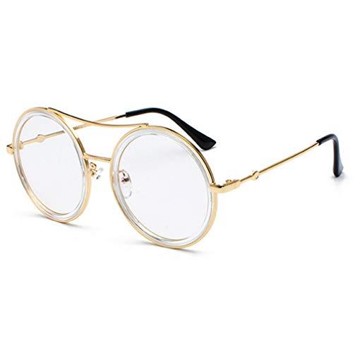 Men Holiday Fauhsto Film Eyewear Piece for C11 Border Round UV Transparent Women Driving Sunglasses Light Literary Travel Eyeglasses Sunglasses Ocean flat Outdoor Shopping Protection Goggles Frame Metal qRRt6xrw