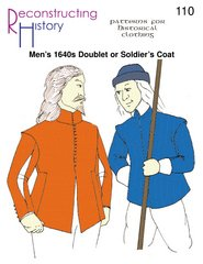 1640s Doublet or English Civil War (Ecw) Soldier's Coat (Elizabethan Era Costume History)