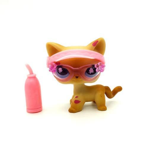 Pet Shops Littlest Messiest Cream Siamese Splash Cat Kitty LPS #816 3/Accessories