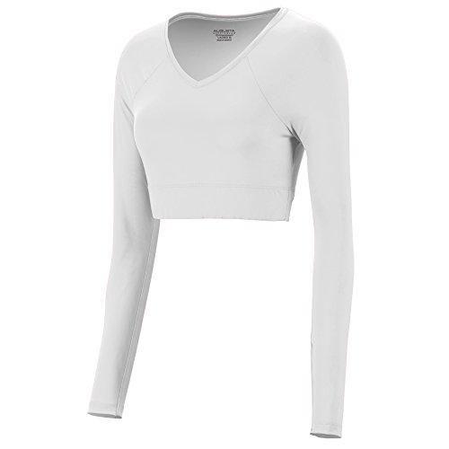 Augusta Sportswear 9012 Women's V-Neck Liner, Large, White
