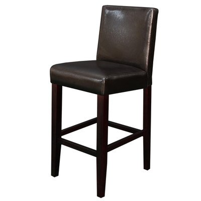 Monsoon Pacific Villa Faux Leather Counter Stool, Brown, Set of 2 (Bar Chair For Sale)