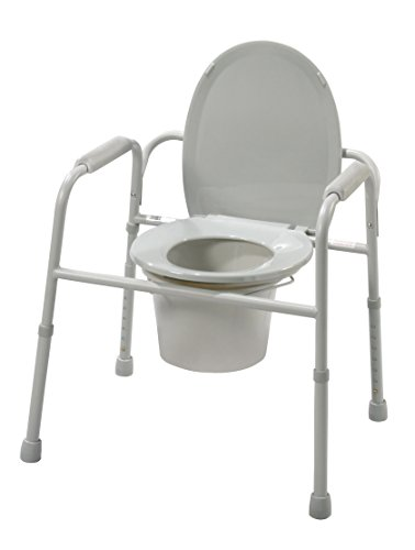 Complete Medical Commode - 3 in 1 Deluxe Steel with deep Seat Assembled-(Drive), 56.5 Pound from Complete Medical