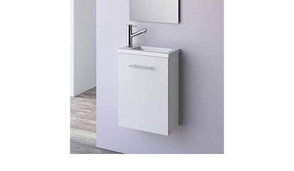 Salgar 22520 Micro Mueble+Lavabo Blanco Brillo: Amazon.es: Hogar