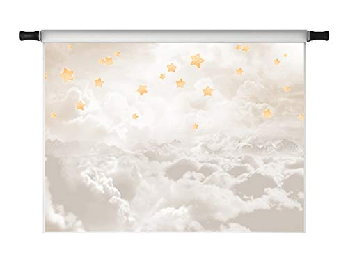 Kate 7x5ft Cloud Stars Photo Backdrop Baby Shower Photoshoot for Photography Children Twinkle Little Stars Kids Photo Background