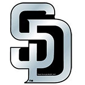 MLB San Diego Padres Chrome Automobile Emblem