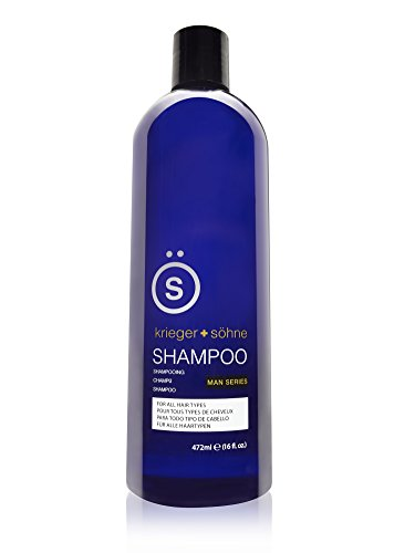 Basics Blue Lavender Shampoo - K + S Salon Quality Men's Shampoo - Tea Tree Oil Infused To Prevent Hair Loss, Dandruff, and Dry Scalp (2 Pack)