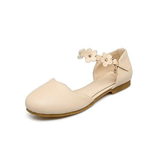 Donna amp;X Sandali Tacco Alla beige Piatto Caviglia Informale Cinturino QIN 57qT5w