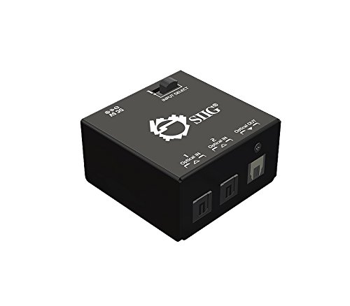 SIIG 2x1 S/PDIF TOSLINK Digital Audio Switch (CE-TS0111-S1)