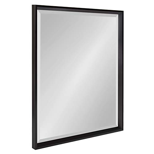 Kate and Laurel Calter Framed Wall Mirror, 23.5x29.5, Black (Mirror Black Large)