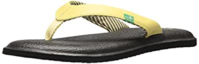 Sanuk Women's Yoga Chakra Flip-Flop, Yellow pear, 05 M US