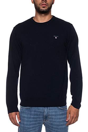 Chaqueta 410 Lambswool Fine para blau Gant Super Cardigan Punto Zip Hombre wvOqEXZ