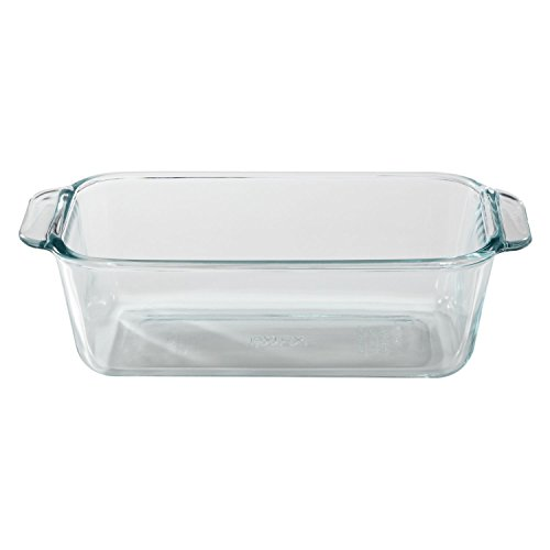 Pyrex 1.5-Quart Clear Basics Glass Loaf Pan (Set of (1.5 Quart Loaf Pan)