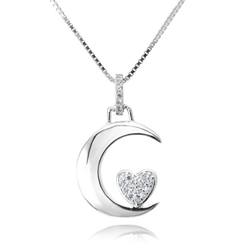 INBLUE Womens Sterling Pendant Necklace