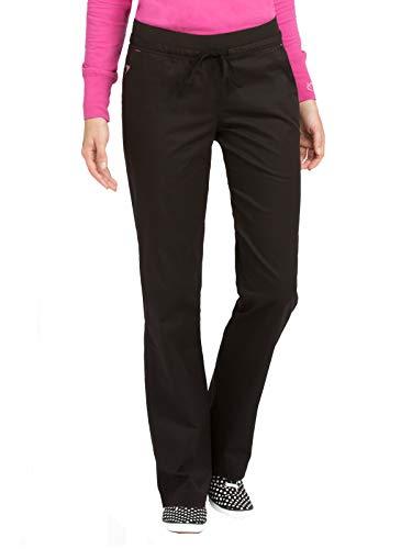 Signature Drawstring Pants - Med Couture Signature Women's Flex-It Yoga Drawstring Scrub Pant Black/Raspberry MP