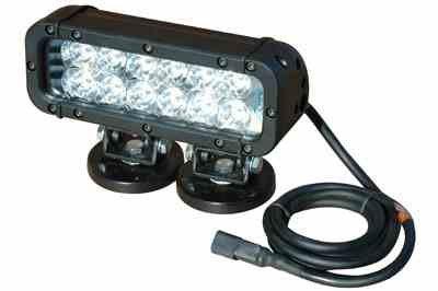 Infrared LED Light Bar w/ Magnetic Base - Extreme Environment - 550'L X 70'W Spot Beam (-Black-Flood-750NM) Led Light Emitter Bar