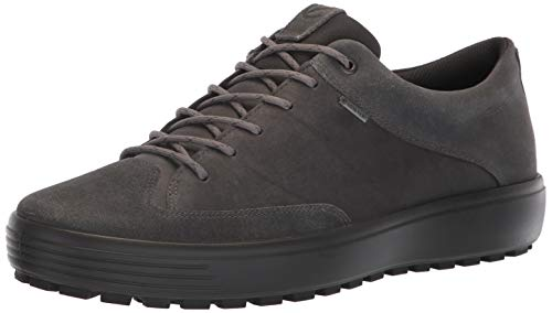 ECCO Men's Soft 7 TRED Low Gore-TEX Sneaker, Magnet Suede/Magnet Nubuck, 44 M EU (10-10.5 US)