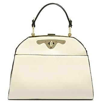 Dilaks 26447 Satchel Bag for Women - Synthetic, Cream