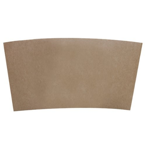 Hot Cup Sleeves (Cup Jackets) for 10-24oz Paper Coffee Cups, 50 Count Coffee Cup Holder Sleeves Traditional Jackets (Natural Kraft/Brown)