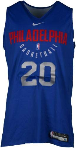 b6e81e59e Markelle Fultz Philadelphia 76ers Practice-Used  20 Reversible Jersey from  the 2017-18 NBA Season - Size L+2 - Fanatics Authentic Certified at  Amazon s ...