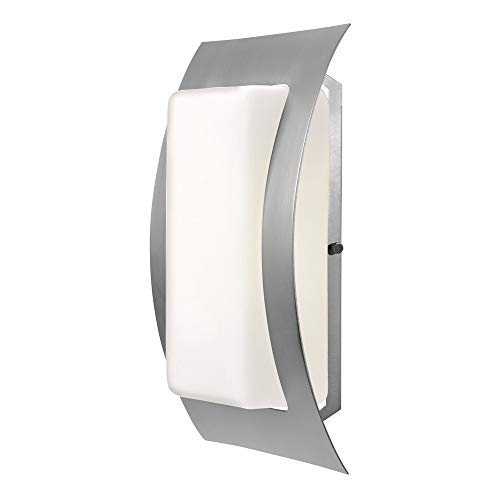 "Access Lighting 20449-SAT/OPL 14"" Eclipse Outdoor Wet Rated Wall Fixture Incandescent Indoor Florescent Lighting, 75 Watts, Satin Finish with Steel Materials from Access Lighting - HI"