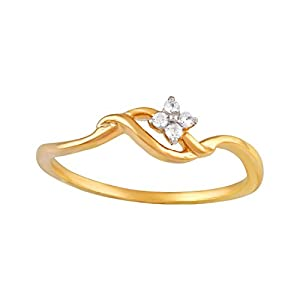 Giantti Daily Wear Women's 14KT Diamond Ring - IGL Certified ( 0.05 Ct, I1 Clarity, GH-Colour)