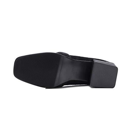 5 36 Noir Femme Sandales MMS06256 1TO9 Noir Compensées WCB0Awq