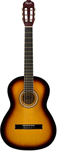 Squier SA-150N Squier Beginner Nylon String Classical Acoustic Guitar - Sunburst Finish (Austin Bazaar Exclusive) by Fender
